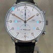 IWC Portuguese Chronograph usados 41mm Blanco Cronógrafo Piel