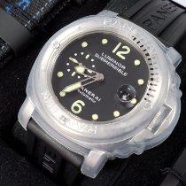 Panerai Luminor Submersible Stål 44mm Sort Arabertal