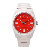 Rolex Oyster Perpetual 36 Staal 36mm Rood Geen cijfers Nederland, Amsterdam
