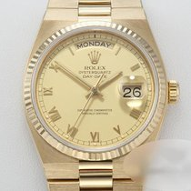 Rolex Day-Date Oysterquartz Or jaune 36mm Champagne Romains