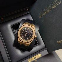 Audemars Piguet Red gold Automatic Black No numerals 41mm new Royal Oak Selfwinding