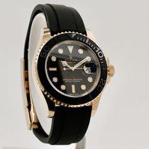 Rolex Pозовое золото Автоподзавод Черный Без цифр 40mm подержанные Yacht-Master 40
