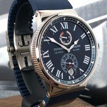 Ulysse Nardin Marine Chronometer Manufacture occasion 45mm Bleu Date Caoutchouc