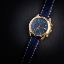 Omega Yellow gold Automatic Blue No numerals 39mm pre-owned Speedmaster Reduced