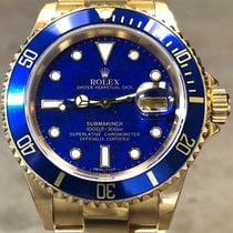 Rolex Submariner Date pre-owned 40mm Blue Yellow gold