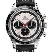 Omega Speedmaster Professional Moonwatch použité 39.7mm Stříbrná Chronograf Kůže
