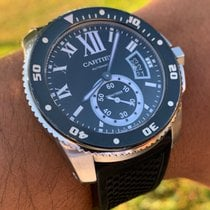 Cartier Calibre de Cartier Diver Steel 42mm Black Roman numerals United States of America, Florida, Boca Raton
