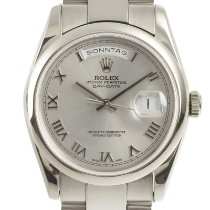 Rolex Day-Date 36 Ouro branco 36mm Prata