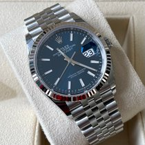 Rolex Datejust Witgoud 36mm Blauw Geen cijfers Nederland, Tilburg