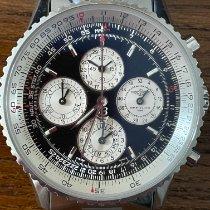 Breitling Navitimer 1461 gebraucht 41mm Schwarz Chronograph Datum Wochentagsanzeige Monatsanzeige Vierjahreskalender Stahl