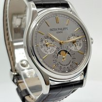 Patek Philippe Perpetual Calendar Platin 37mm Silber Schweiz, Genève