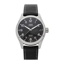 Oris Big Crown ProPilot Date pre-owned 41mm Grey Date Leather