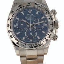 Rolex White gold Chronograph Blue 40mm Daytona