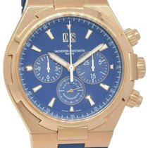Vacheron Constantin Rose gold Manual winding Blue 42.5mm pre-owned Overseas Chronograph