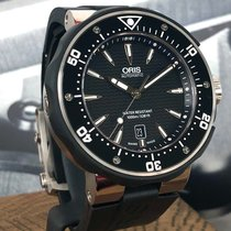 Oris ProDiver Date pre-owned 49mm Black Date Rubber