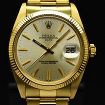 Rolex Oyster Perpetual Date Oro amarillo 34mm Plata Sin cifras España, Barcelona