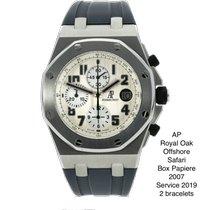Audemars Piguet Stahl Automatik Silber Arabisch 42mm gebraucht Royal Oak Offshore Chronograph