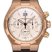 Vacheron Constantin Rose gold Automatic Silver No numerals 42mm pre-owned Overseas Chronograph