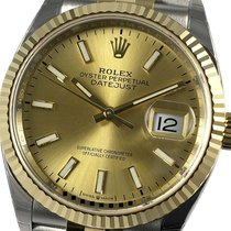 Rolex Datejust 126233 New Gold/Steel 36mm Automatic