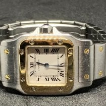Cartier Santos Galbée Goud/Staal 24mm Zilver Romeins Nederland, utrecht