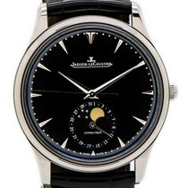 Jaeger-LeCoultre Master Ultra Thin Moon pre-owned 39mm Black Moon phase Crocodile skin