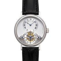 Breguet White gold Manual winding Silver 36mm pre-owned Classique Complications