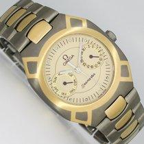 Omega Damenuhr 32mm Quarz gebraucht Uhr mit Original-Box 1991