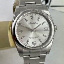 Rolex Oyster Perpetual 36 Stahl 36mm Silber Arabisch Schweiz, Roveredo