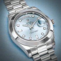 Rolex Day-Date II Platine 41mm Bleu