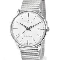Junghans Meister Chronometer brugt 38mm Hvid Dato Stål