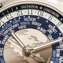 Vacheron Constantin Steel Automatic Blue Arabic numerals 43mm pre-owned Overseas World Time