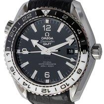 Omega Steel Black Arabic numerals 43mm pre-owned Seamaster Planet Ocean