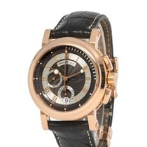 Breguet Rose gold Automatic Grey Roman numerals 43mm pre-owned Marine