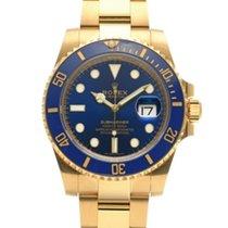 Rolex Submariner Date Желтое золото 40mm Синий