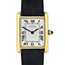Cartier Tank (submodel) Yellow gold 24mm White Roman numerals