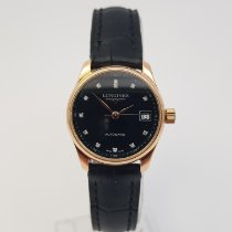 Longines Rose gold Automatic Black No numerals 25mm pre-owned Master Collection