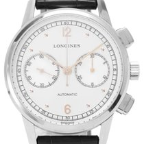 Longines L2.814.4.76.0 Steel 2018 Heritage 41mm pre-owned