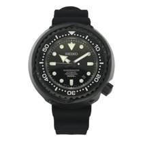 Seiko Marinemaster pre-owned 52mm Black Date Rubber
