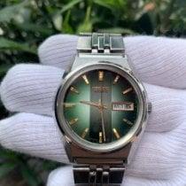Seiko King Steel 37.5mm Green No numerals
