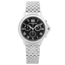 Raymond Weil Tradition Steel 39mm Black Roman numerals United States of America, New York, NYC