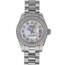 Rolex Platinum Automatic Mother of pearl Roman numerals 26mm pre-owned Lady-Datejust