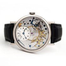 Breguet Tradition pre-owned 37mm Gold Crocodile skin