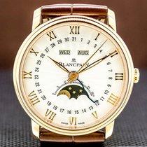 Blancpain Villeret Quantième Complet Rose gold 40mm Roman numerals