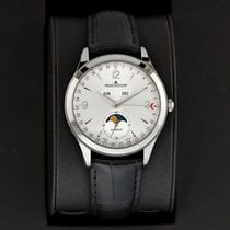 Jaeger-LeCoultre Master Calendar pre-owned 39mm Silver Moon phase Date Month Year Crocodile skin
