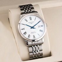 Longines Record Steel 40mm White United States of America, New Jersey, Englewood