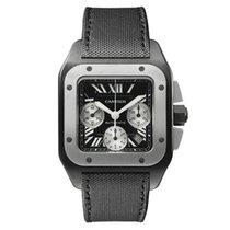 Cartier Titan Automatik Schwarz Römisch 46mm gebraucht Santos 100