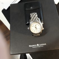 Maurice Lacroix gebraucht Automatik 43mm Silber Saphirglas 5 ATM