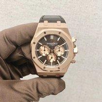 Audemars Piguet Royal Oak Chronograph Roségoud 41mm Bruin Geen cijfers