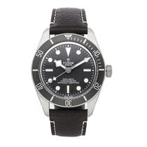Tudor Silver Automatic No numerals 39mm pre-owned Black Bay Fifty-Eight