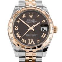 Rolex (ロレックス) レディース デイトジャスト 新品 2018 自動巻き 正規のボックスと正規の書類付属の時計 178341
